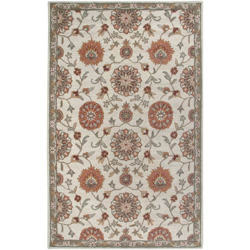 Rizzy Rugs Ashlyn Beige and Brown Rectangular: 5 Ft. x 8 Ft. Rug