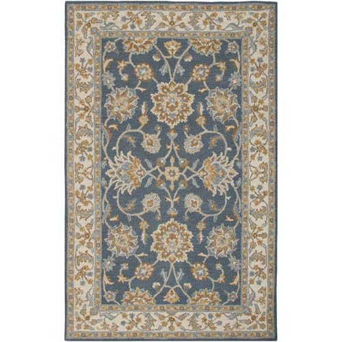 Rizzy Rugs Ashlyn Navy and Ivory Rectangular: 5 Ft. x 8 Ft. Rug
