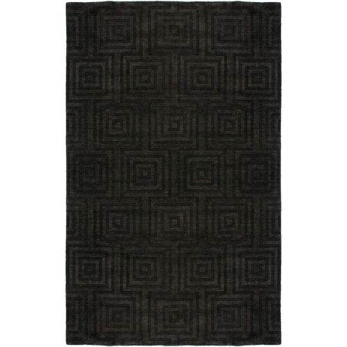 Rizzy Rugs Uptown Charcoal Rectangular: 5 Ft. 6 In. x 8 Ft. 6 In. Rug