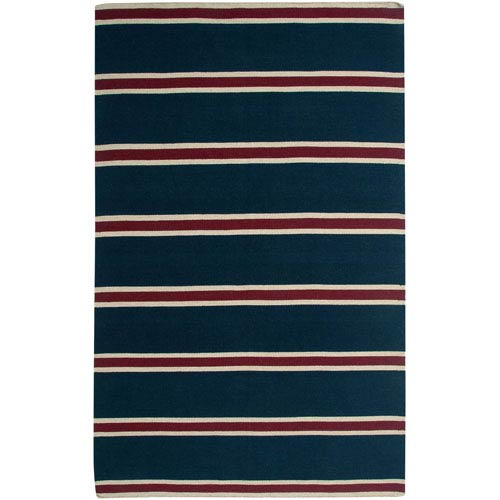 Rizzy Rugs Swing Blue and Brown Rectangular: 5 Ft. x 8 Ft. Rug