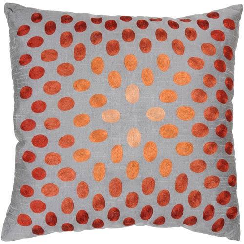 Oval Sheen Orange 18-Inch Throw Pillow