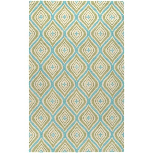 Rizzy Rugs Country Green Rectangular: 5 Ft. x 8 Ft. Rug