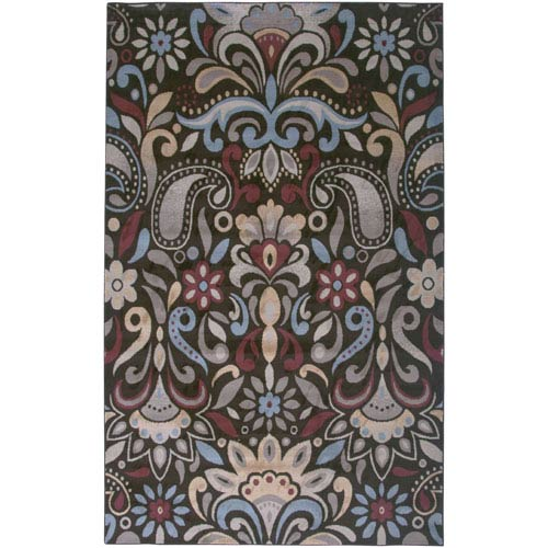 Rizzy Rugs Bayside Brown and Light Blue Rectangular: 5 Ft. 3 In. x 7 Ft. 7 In. Rug