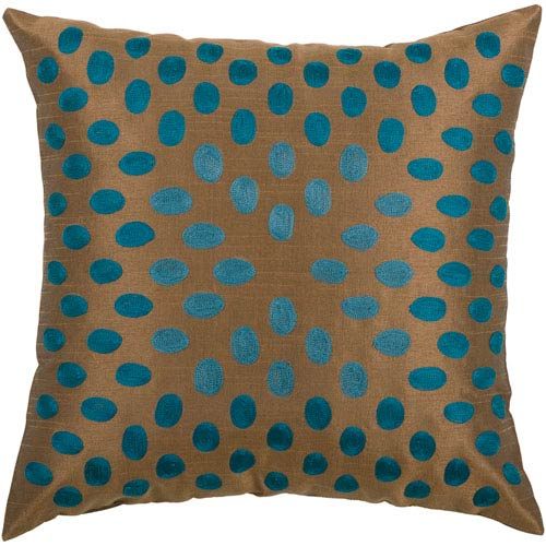 Oval Sheen Brown 18-Inch Throw Pillow
