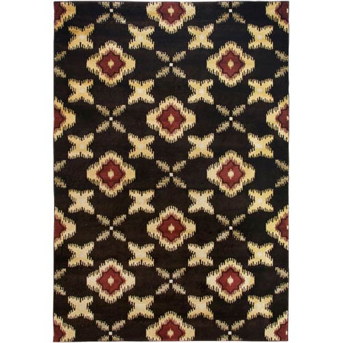 Rizzy Rugs Bayside Brown and Beige Rectangular: 5 Ft. 3 In. x 7 Ft. 7 In. Rug