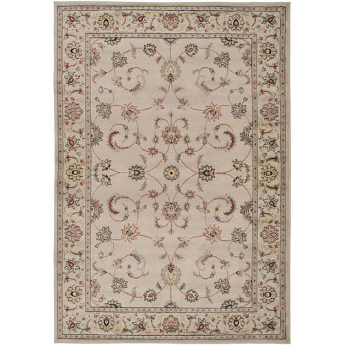 Rizzy Rugs Bayside Ivory and Brown Rectangular: 5 Ft. 3 In. x 7 Ft. 7 In. Rug
