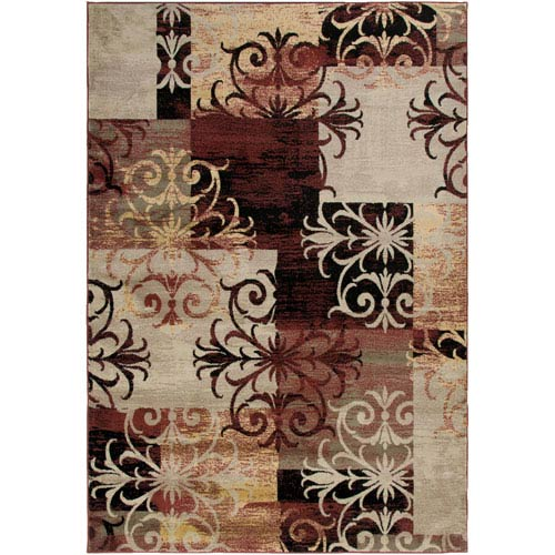 Rizzy Rugs Bayside Burgundy Rectangular: 5 Ft. 3 In. x 7 Ft. 7 In. Rug