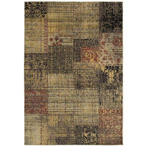 Rizzy Rugs Bayside Dark Green and Tan Rectangular: 5 Ft. 3 In. x 7 Ft. 7 In. Rug