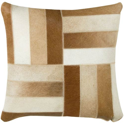 Cowhide Brown  18-Inch Throw Pillow