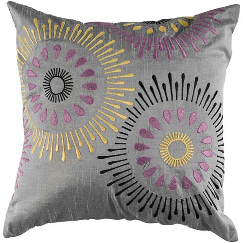 One of a Kind Silver 18-Inch Throw Pillow