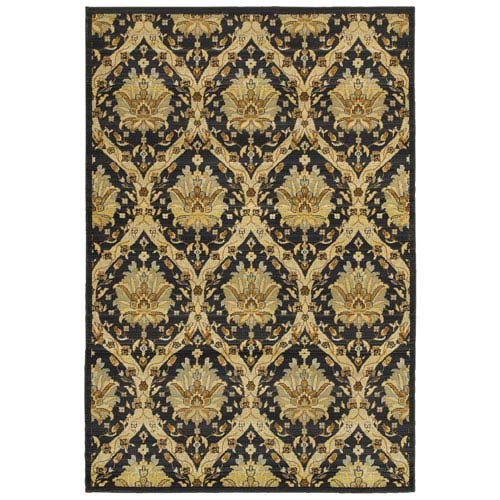 Sorrento Gray and Black Rectangular: 3 Ft 3 In x 5 Ft 3 In Rug