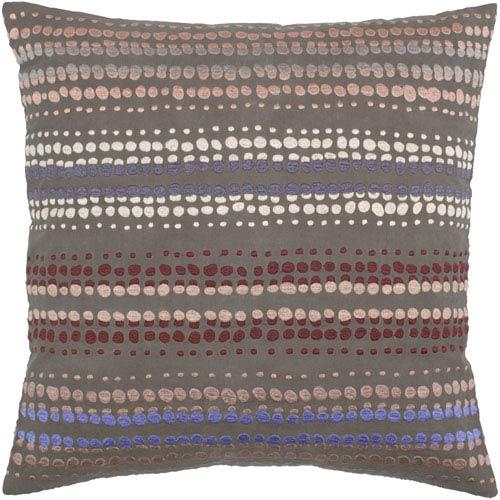 Anna Redmond Brown 20-Inch Throw Pillow
