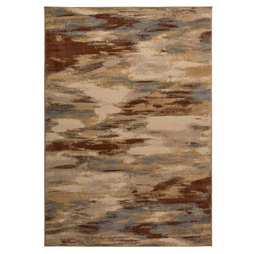 Carrington Khaki and Ivory Rectangular: 5 Ft 3 In x 7 Ft 7 In Rug