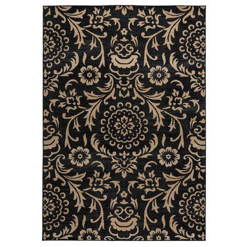 Carrington Black Rectangular: 5 Ft 3 In x 7 Ft 7 In Rug