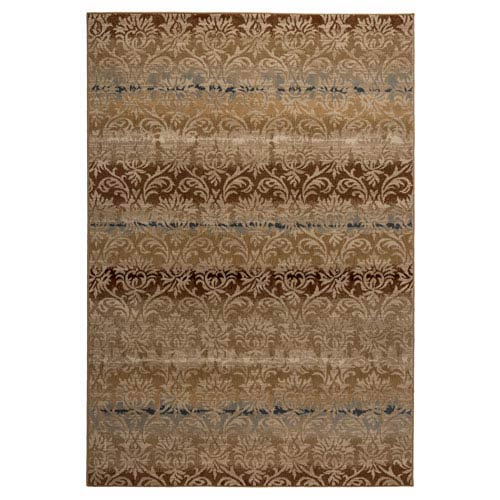 Carrington Ivory and Khaki Rectangular: 5 Ft 3 In x 7 Ft 7 In Rug