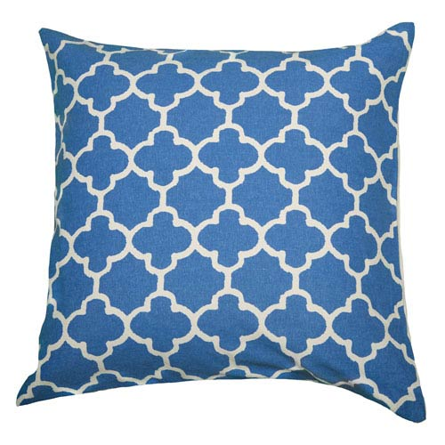 Moroccan Blue 18-Inch Throw Pillow
