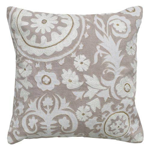 One of a Kind Khaki 18-Inch Throw Pillow