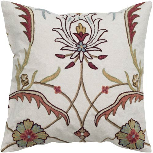 One of a Kind Off White 20-Inch Throw Pillow