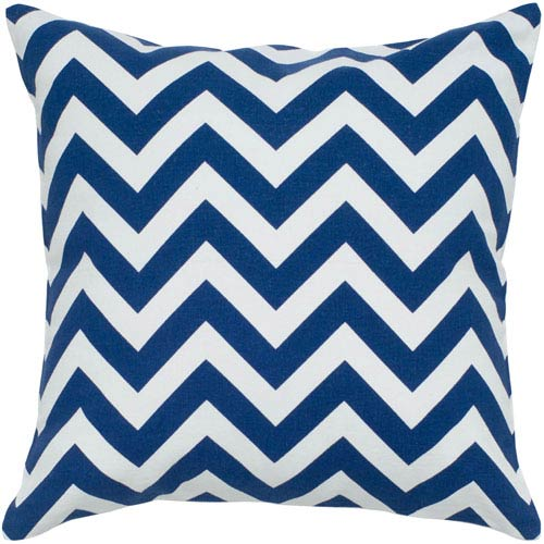 Chevron Print Navy 18-Inch Throw Pillow