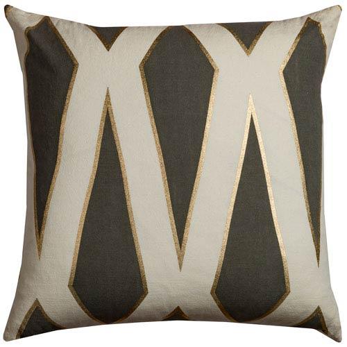 Gatsby Gray  20-Inch Throw Pillow