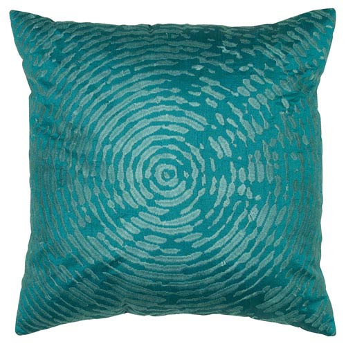 One of a Kind Peacock Blue 18-Inch Throw Pillow