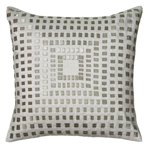 One of a Kind Ivory 18-Inch Throw Pillow