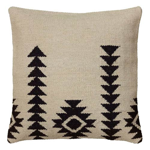 Triangle Forms Ivory 18-Inch Throw Pillow