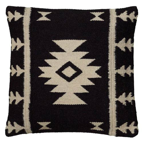Triangle Forms Black 18-Inch Throw Pillow