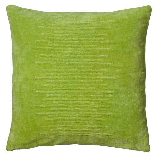 Striated Velvet Lime 20-Inch Throw Pillow