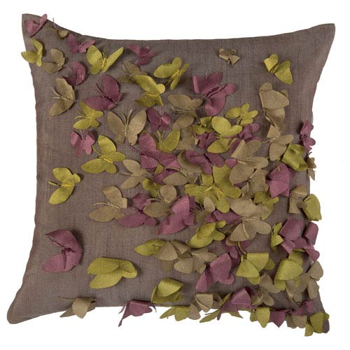 Butterfly Frenzy Purple 18-Inch Throw Pillow