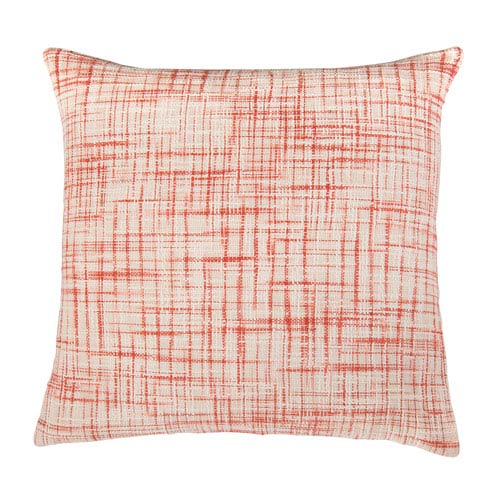 Abstract Texture Coral 22-Inch Throw Pillow