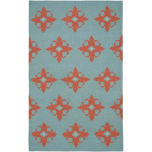 Rizzy Rugs Swing Light Blue Rectangular: 5 Ft. x 8 Ft. Rug