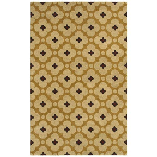Rizzy Rugs Opus Light Gold Rectangular: 5 Ft. x 8 Ft. Rug