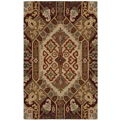 Rizzy Rugs Southwest Beige and Red Rectangular: 5 Ft. x 8 Ft. Rug