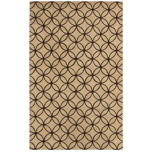Rizzy Rugs Opus Beige and Brown Rectangular: 5 Ft. x 8 Ft. Rug