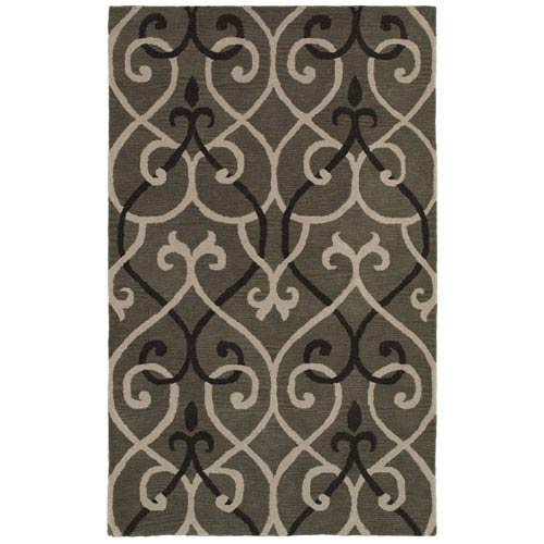 Rizzy Rugs Opus Gray Rectangular: 5 Ft. x 8 Ft. Rug