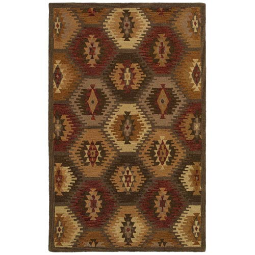 Rizzy Rugs Southwest Brown Rectangular: 5 Ft. x 8 Ft. Rug