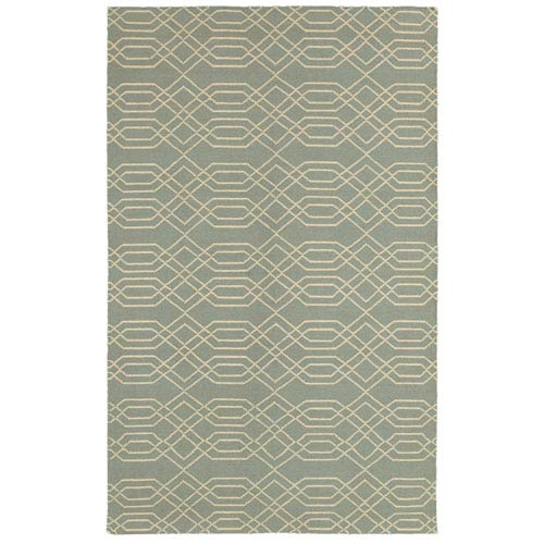 Rizzy Rugs Swing Light Blue and Tan Rectangular: 5 Ft. x 8 Ft. Rug
