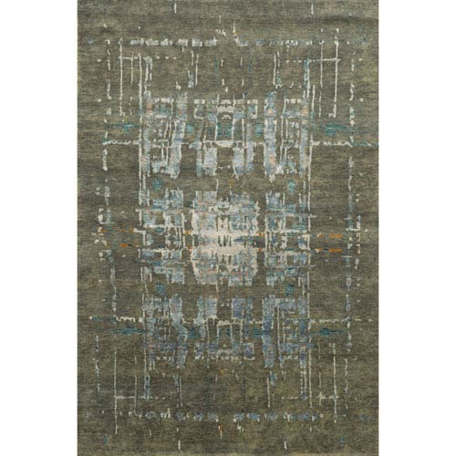 Avant-Garde Blue Rectangular: 9 Ft x 12 Ft Rug