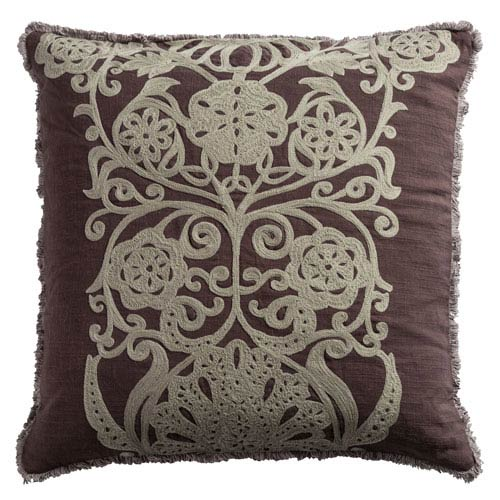 One of a Kind Plum  20-Inch Throw Pillow