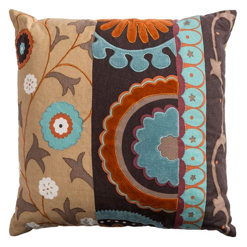 One of a Kind Multicolor 20-Inch Throw Pillow