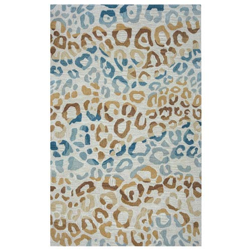 Valintino Multicolor Rectangular: 5 Ft x 8 Ft Rug