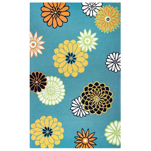 Azzura Hill Teal Rectangular: 2 Ft. x 3 Ft.  Rug
