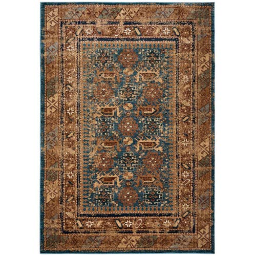 Rizzy Rugs Bellevue Blue Round: 7 Ft. 10-Inch x 10 Ft. 10-Inch  Rug