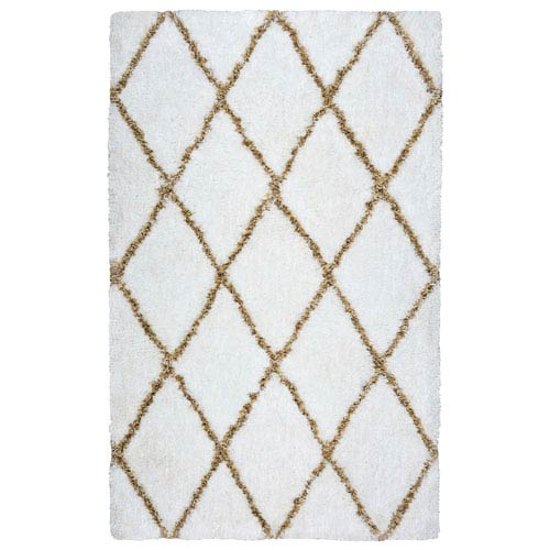 Connex White Rectangular: 3 Ft. x 5 Ft.  Rug