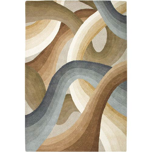 Rizzy Rugs Colours Rectangle: 5 Ft. x 8 Ft. Beige Rug