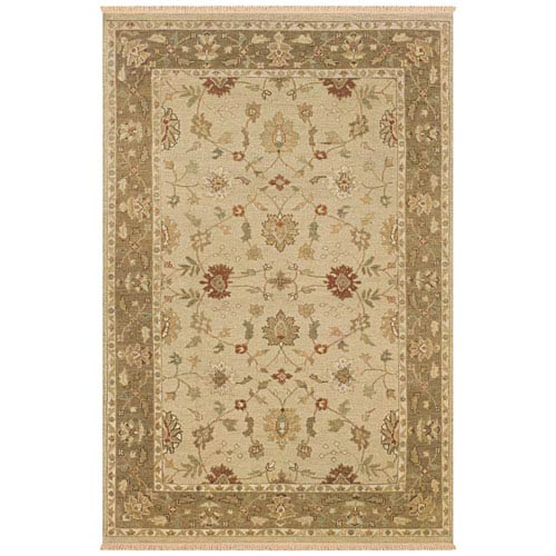 Rizzy Rugs Elegance Rectangle: 5 Ft. 6 In. x 8 Ft. 6 In. Beige Rug
