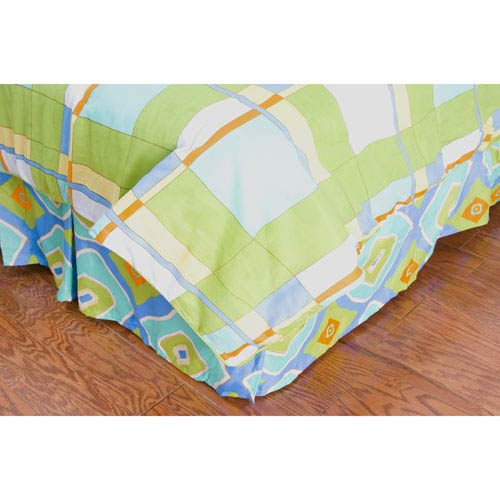 Laura Fair Plaid Blue Full/Queen Bed Skirt