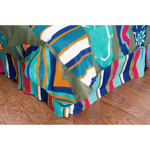 Laura Fair Surfs Up Blue Twin Bed Skirt