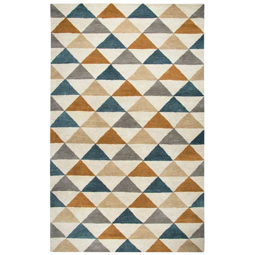 Rizzy Rugs Marianna Fields Gray Rectangular: 5 Ft. x 8 Ft.  Rug